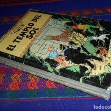 Cómics: TINTIN EL TEMPLO DEL SOL 2ª SEGUNDA EDICIÓN. JUVENTUD 1961. ESTADO NORMAL.. Lote 152876886