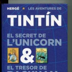 Cómics: TINTIN EL SECRET DE L'UNICORN. EL TRESOR DE RACKHAM EL ROIG. ED. JOVENTUT 2011. Lote 153066386