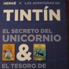 Cómics: HERGE-TINTIN-EL SECRETO DEL UNICORNIO--EL TESORO DE RACKHAM EL ROJO. Lote 153123294