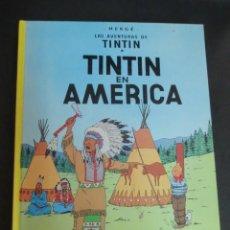 Cómics: TINTÍN EN AMÉRICA LAS AVENTURAS DE TINTÍN HERGÉ EDITORIAL JUVENTUD AÑO 1995. Lote 153357030