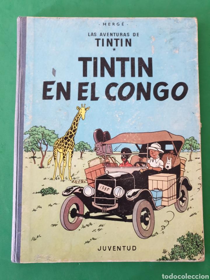 TINTIN EN EL CONGO. HERGÉ. JUVENTUD. SEGUNDA EDICIÓN 1970 (Tebeos y Comics - Juventud - Tintín)