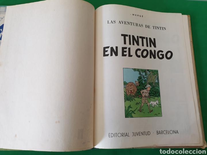 Cómics: Tintin en el Congo. Hergé. Juventud. Segunda edición 1970 - Foto 6 - 153833266
