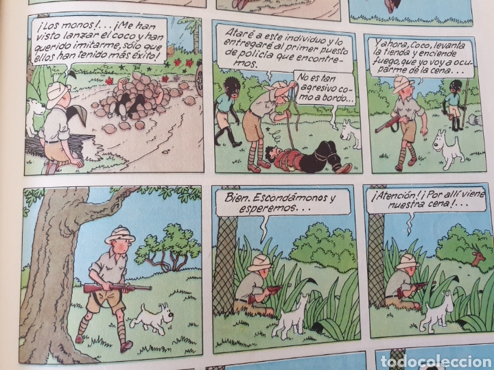 Cómics: Tintin en el Congo. Hergé. Juventud. Segunda edición 1970 - Foto 8 - 153833266