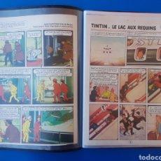 Cómics: TINTIN Y EL LAGO DE LOS TIBURONES (LE LAC AUX REQUINS) JOURNAL TINTIN 1972/1973-BELVISIÓN. Lote 154178842