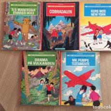 Cómics: HERGÉ - LOTE DE 5 CÓMICS DE JO, ZETTE Y JOCKO EN DANÉS.. Lote 154511661