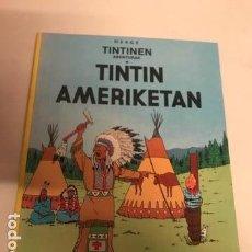 Comics: TINTIN. AMERIKETAN. EN AMERICA. 1ª PRIMERA EDICION EUSKERA, VASCO. ELKAR 1989. Lote 154981762
