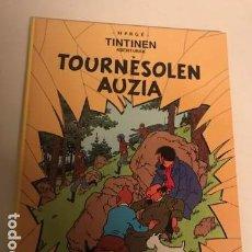 Cómics: TINTIN. TOURNESOLEN AUZIA. EL ASUNTO TORNASOL. 1ª PRIMERA EDICION EUSKERA, VASCO. ELKAR 1989. Lote 154982410