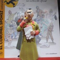 Cómics: FIGURA TINTÍN RESINA MOULINSART EL CORONEL SPONSZ. Lote 155285346