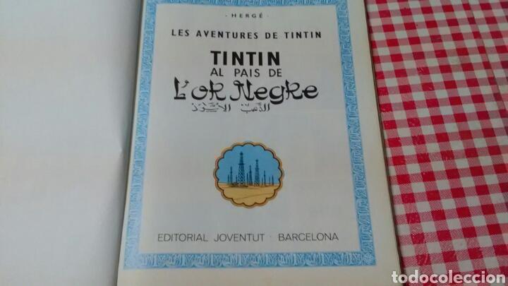 Cómics: TINTIN al país de l' or negre . Hergé .Ed Joventud . En catalán - Foto 2 - 136495366
