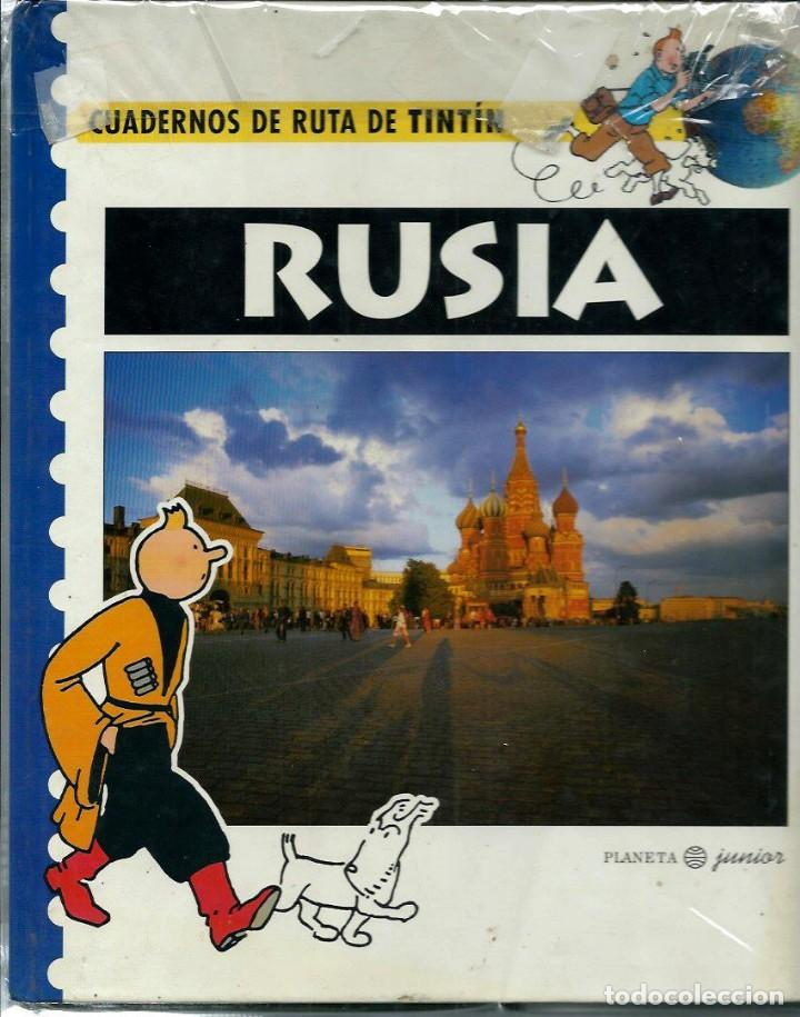 Cómics: HERGE - CUADERNOS DE RUTA DE TINTIN - LOS 6 LIBROS DE LA COLECCION - COMPLETA - PLANETA 1995 - BIEN - Foto 2 - 155591430