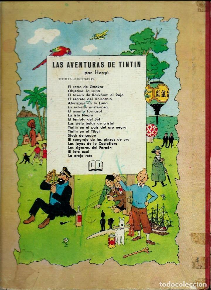 Cómics: HERGE - TINTIN - EL LOTO AZUL - ED. JUVENTUD 1965, 1ª PRIMERA EDICION - IMPRENTA ROSES, LOMO ROJO - Foto 2 - 155609538