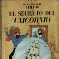 Cómics: HERGE - TINTIN - EL SECRETO DEL UNICORNIO - JUVENTUD 1959, 1ª PRIMERA EDICION - VER DESCRIPCION. Lote 155611334