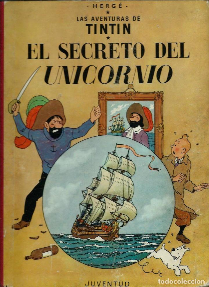 HERGE - TINTIN - EL SECRETO DEL UNICORNIO - JUVENTUD 1959, 1ª PRIMERA EDICION - VER DESCRIPCION (Tebeos y Comics - Juventud - Tintín)
