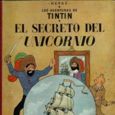 Cómics: HERGE - TINTIN - EL SECRETO DEL UNICORNIO - JUVENTUD 1959, 1ª PRIMERA EDICION - VER DESCRIPCION. Lote 155611998