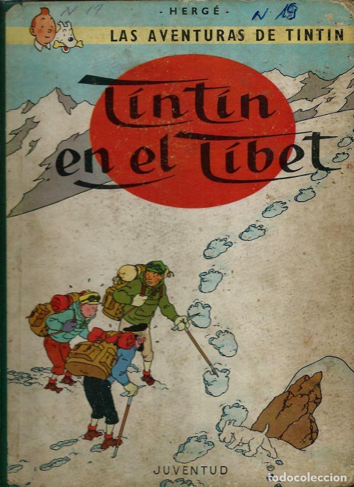 HERGE - TINTIN EN EL TIBET - EDITORIAL JUVENTUD 1962 1ª PRIMERA EDICION - DIFICIL, VER DESCRIPCION (Tebeos y Comics - Juventud - Tintín)