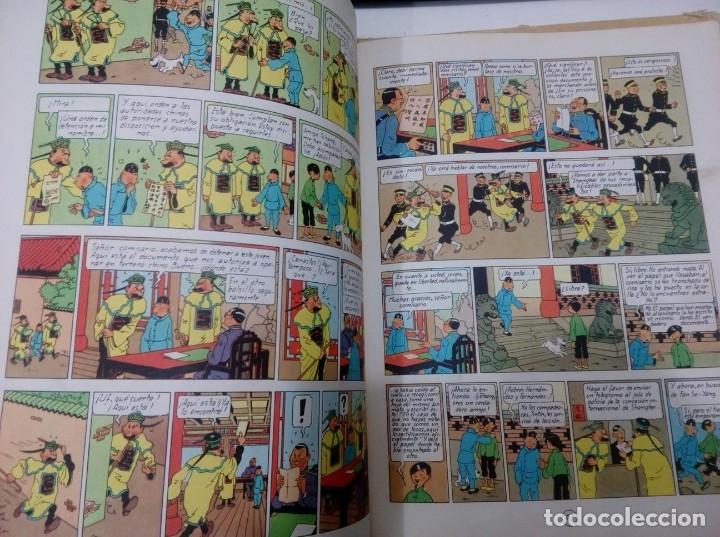 Cómics: HERGE - TINTIN - EL LOTO AZUL - ED. JUVENTUD 1965, 1ª PRIMERA EDICION - IMPRENTA ROSES, LOMO ROJO - Foto 7 - 155609538