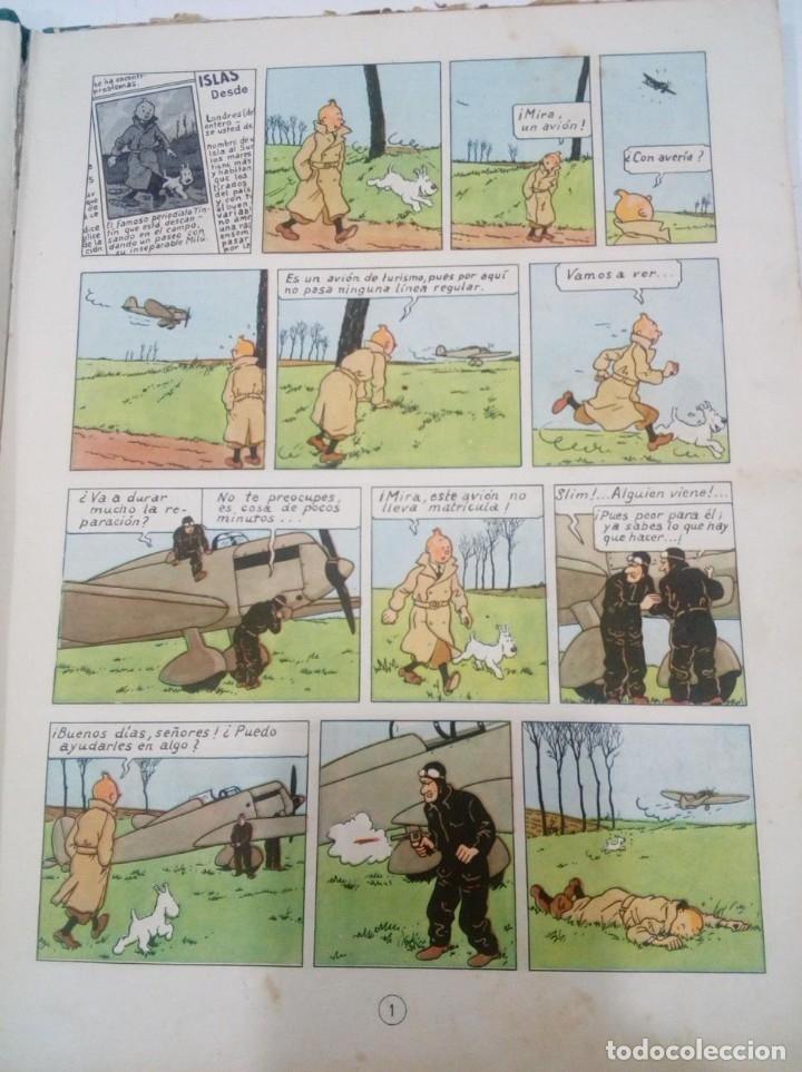 Cómics: HERGE - TINTIN - LA ISLA NEGRA - ED. JUVENTUD 1961, 1ª PRIMERA EDICION - CON EL DIFICIL LOMO VERDE - Foto 5 - 155610022