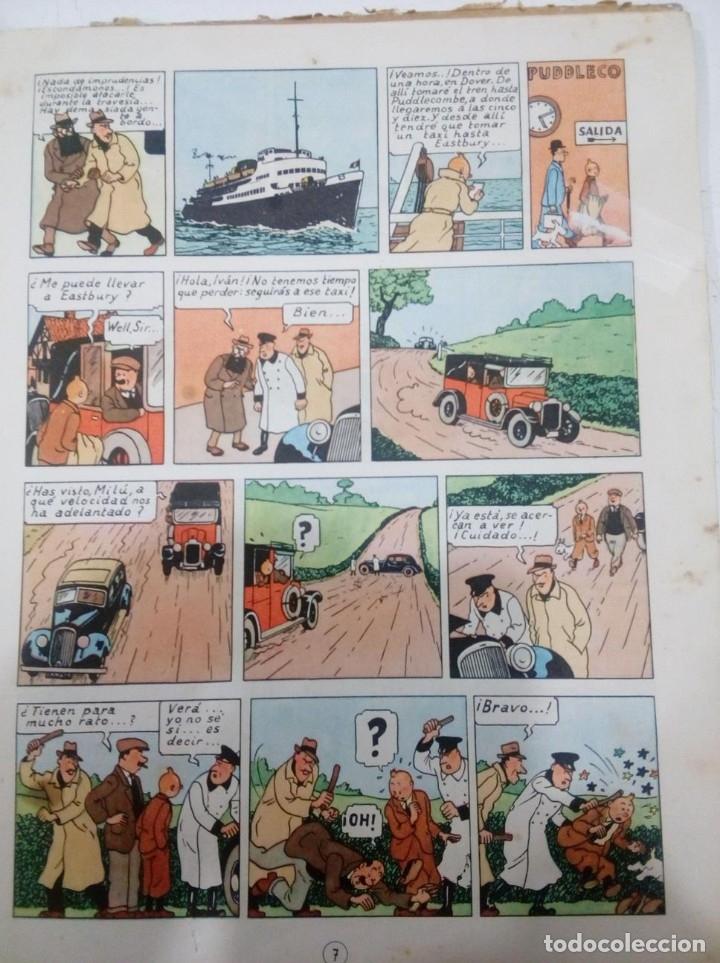 Cómics: HERGE - TINTIN - LA ISLA NEGRA - ED. JUVENTUD 1961, 1ª PRIMERA EDICION - CON EL DIFICIL LOMO VERDE - Foto 7 - 155610022