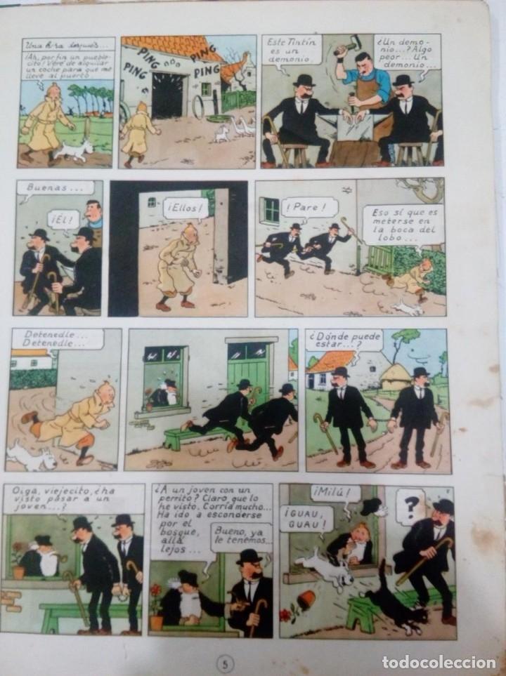 Cómics: HERGE - TINTIN - LA ISLA NEGRA - ED. JUVENTUD 1961, 1ª PRIMERA EDICION - CON EL DIFICIL LOMO VERDE - Foto 6 - 155610022