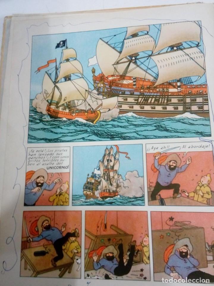 Cómics: HERGE - TINTIN - EL SECRETO DEL UNICORNIO - JUVENTUD 1959, 1ª PRIMERA EDICION - VER DESCRIPCION - Foto 8 - 155611334
