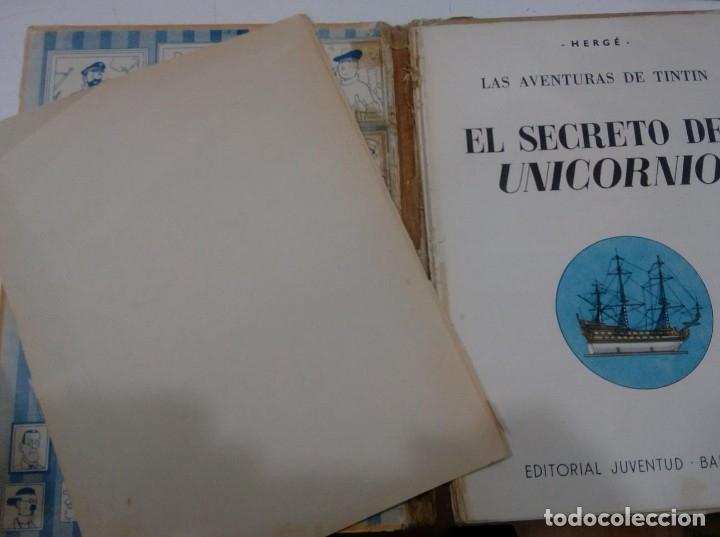 Cómics: HERGE - TINTIN - EL SECRETO DEL UNICORNIO - JUVENTUD 1959, 1ª PRIMERA EDICION - VER DESCRIPCION - Foto 6 - 155611334