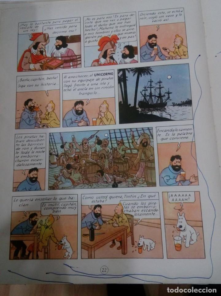 Cómics: HERGE - TINTIN - EL SECRETO DEL UNICORNIO - JUVENTUD 1959, 1ª PRIMERA EDICION - VER DESCRIPCION - Foto 9 - 155611334