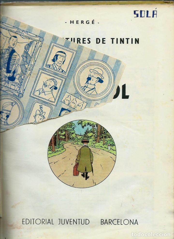 Cómics: HERGE - TINTIN - L' AFER TORNASOL - EDITORIAL JUVENTUD 1967, 1ª PRIMERA EDICIO - EN CATALA - Foto 3 - 155627166