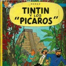 Cómics: HERGE - TINTIN Y LOS PICAROS - JUVENTUD 1976, PRIMERA 1ª EDICION ESPAÑOLA - EN RUSTICA - MUY DIFICIL. Lote 155628054