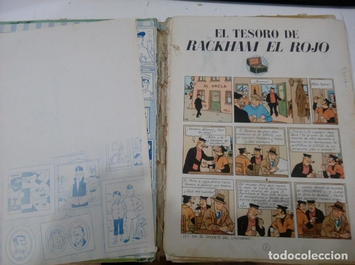 Cómics: HERGE - TINTIN - EL TESORO DE RACKHAM EL ROJO - JUVENTUD 1960, 1ª PRIMERA EDICION - VER DESCRIPCION - Foto 5 - 155612310