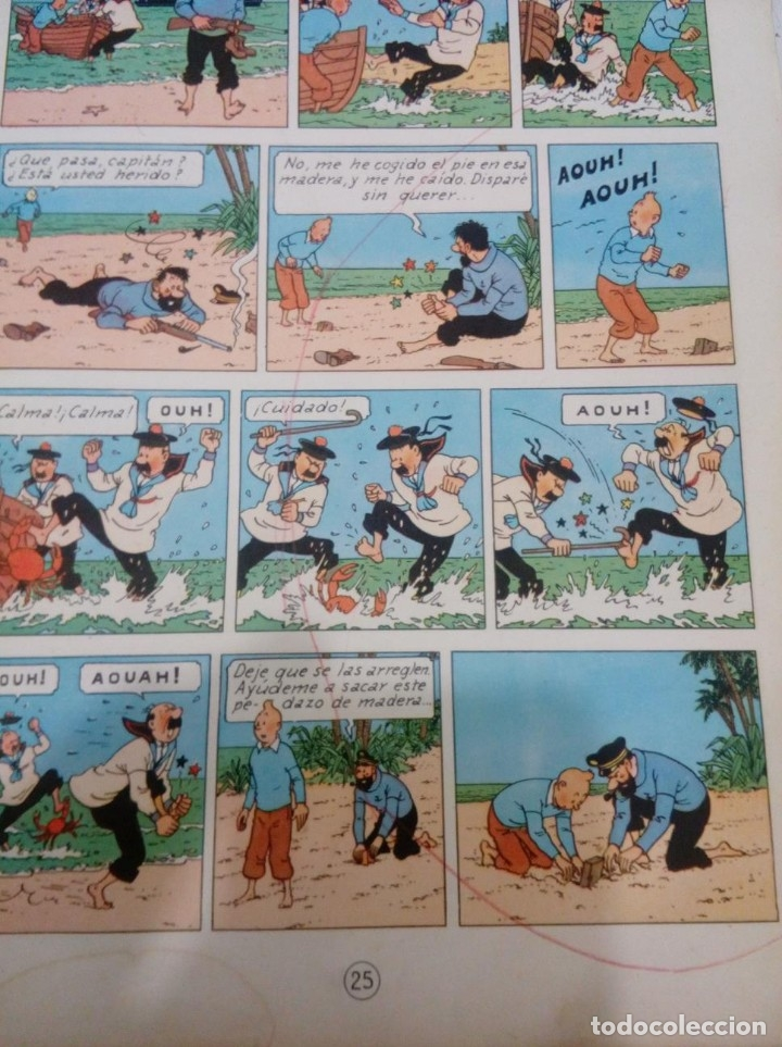 Cómics: HERGE - TINTIN - EL TESORO DE RACKHAM EL ROJO - JUVENTUD 1960, 1ª PRIMERA EDICION - VER DESCRIPCION - Foto 9 - 155612310