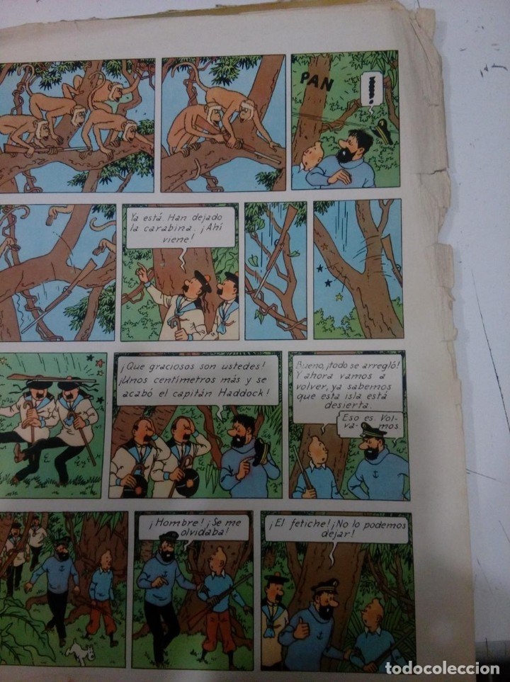 Cómics: HERGE - TINTIN - EL TESORO DE RACKHAM EL ROJO - JUVENTUD 1960, 1ª PRIMERA EDICION - VER DESCRIPCION - Foto 10 - 155612310