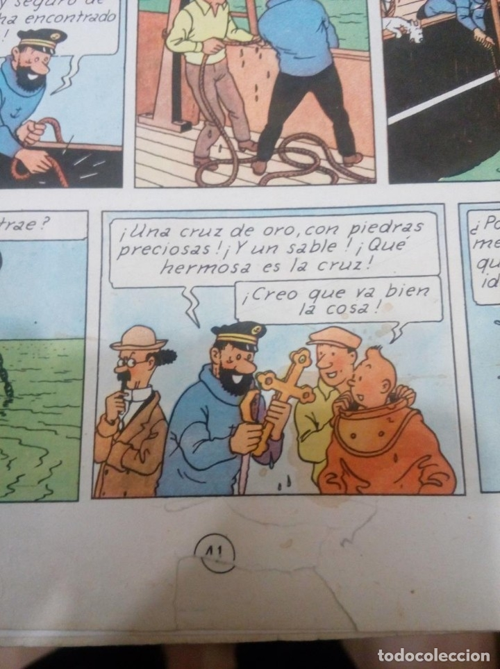 Cómics: HERGE - TINTIN - EL TESORO DE RACKHAM EL ROJO - JUVENTUD 1960, 1ª PRIMERA EDICION - VER DESCRIPCION - Foto 11 - 155612310