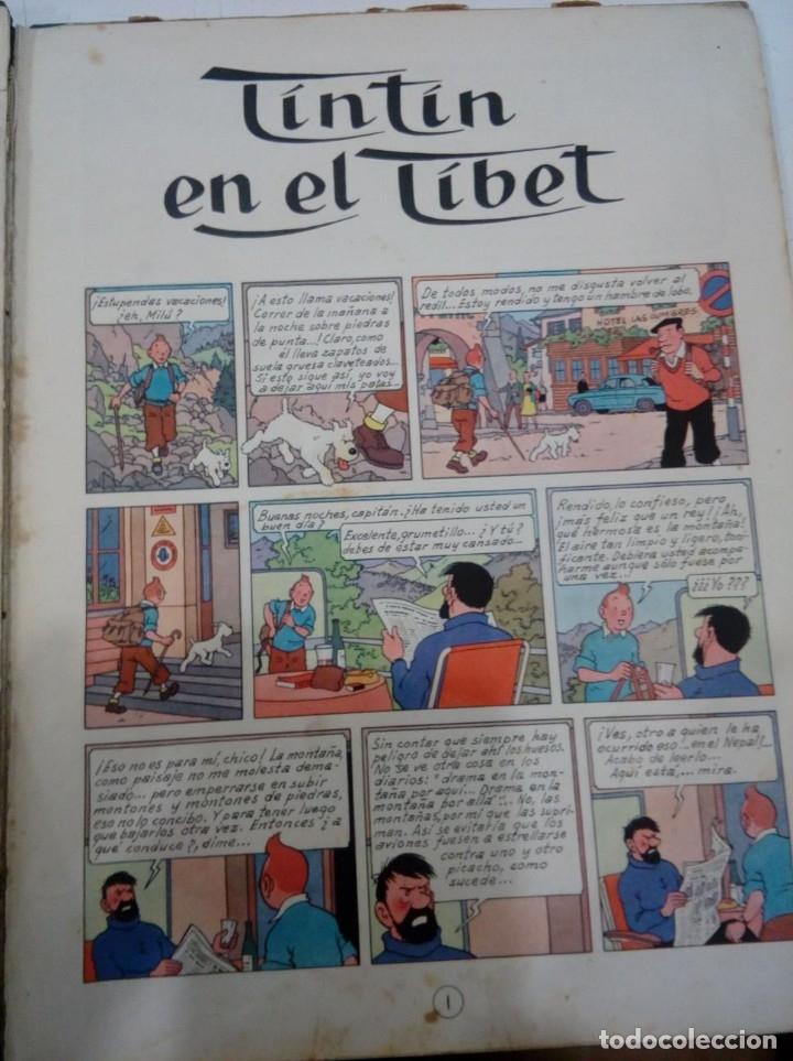 Cómics: HERGE - TINTIN EN EL TIBET - EDITORIAL JUVENTUD 1962 1ª PRIMERA EDICION - DIFICIL, VER DESCRIPCION - Foto 6 - 155624306