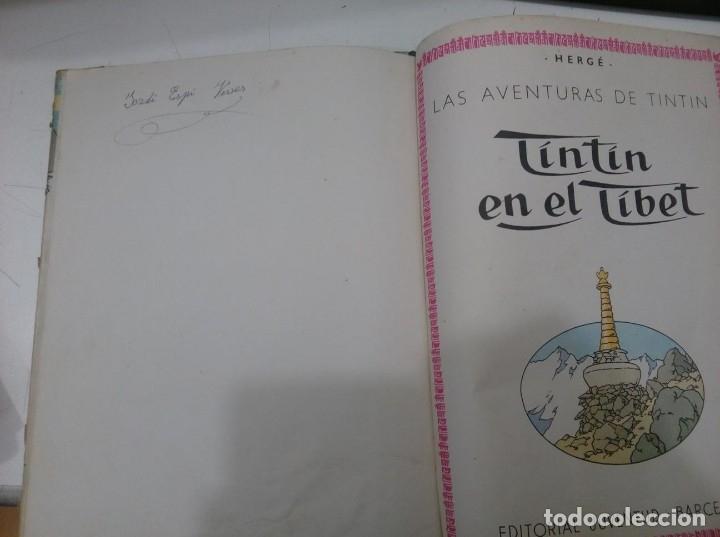Cómics: HERGE - TINTIN EN EL TIBET - EDITORIAL JUVENTUD 1962 1ª PRIMERA EDICION - DIFICIL, VER DESCRIPCION - Foto 5 - 155624306