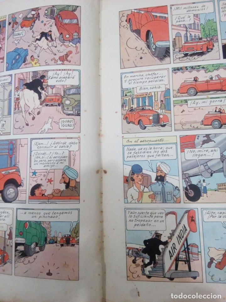 Cómics: HERGE - TINTIN EN EL TIBET - EDITORIAL JUVENTUD 1962 1ª PRIMERA EDICION - DIFICIL, VER DESCRIPCION - Foto 7 - 155624306