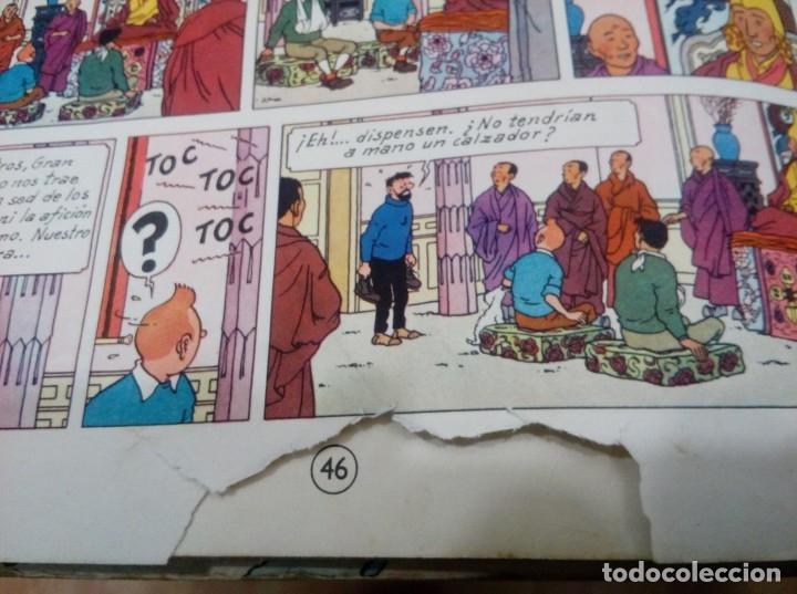 Cómics: HERGE - TINTIN EN EL TIBET - EDITORIAL JUVENTUD 1962 1ª PRIMERA EDICION - DIFICIL, VER DESCRIPCION - Foto 9 - 155624306