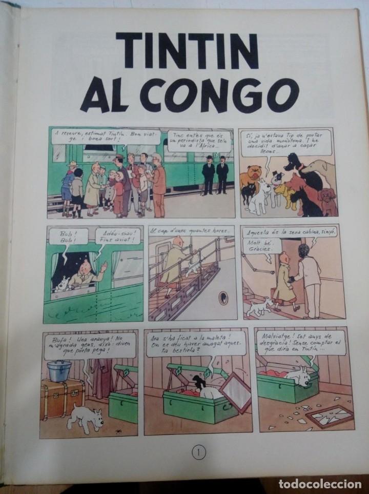 Cómics: HERGE - TINTIN AL CONGO - EDITORIAL JUVENTUD 1969, 1ª PRIMERA EDICIO - EN CATALA - BÉ - Foto 5 - 155626578