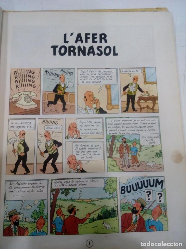 Cómics: HERGE - TINTIN - L' AFER TORNASOL - EDITORIAL JUVENTUD 1967, 1ª PRIMERA EDICIO - EN CATALA - Foto 5 - 155627166