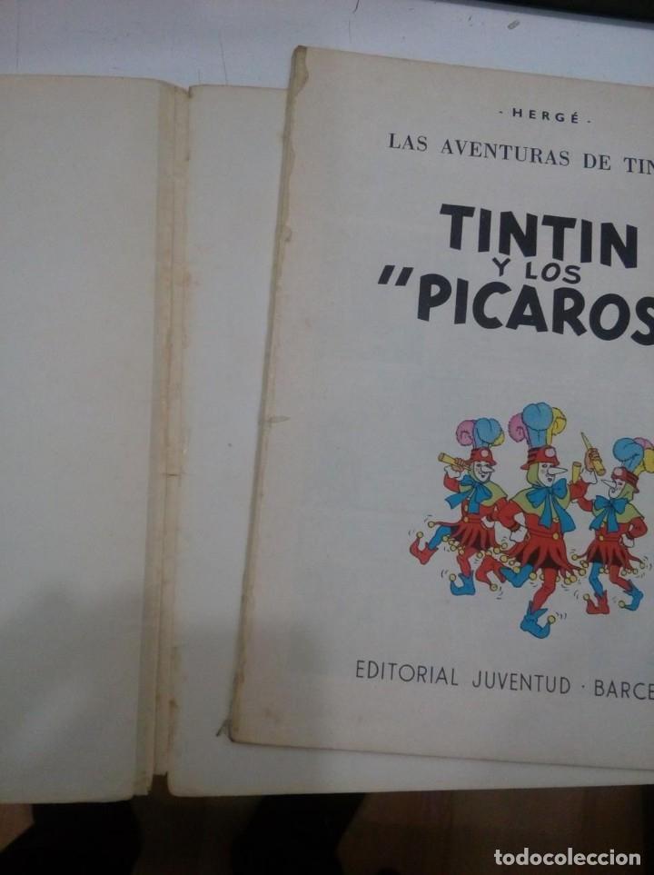 Cómics: HERGE - TINTIN Y LOS PICAROS - JUVENTUD 1976, PRIMERA 1ª EDICION ESPAÑOLA - EN RUSTICA - MUY DIFICIL - Foto 5 - 155628054