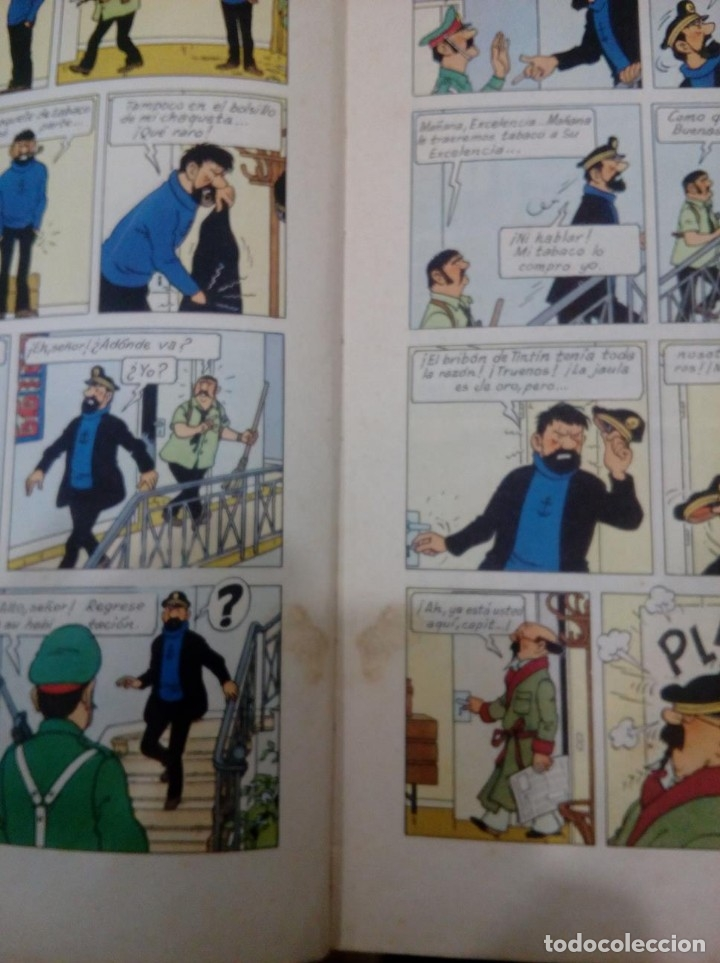 Cómics: HERGE - TINTIN Y LOS PICAROS - JUVENTUD 1976, PRIMERA 1ª EDICION ESPAÑOLA - EN RUSTICA - MUY DIFICIL - Foto 6 - 155628054