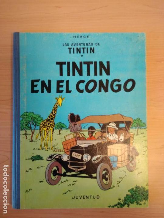 Cómics: Lote Tintín, Editorial Juventud. Lomo tela. Oreja, congo, America - Foto 4 - 155955018