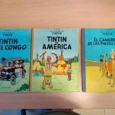 Cómics: LOTE TINTÍN, EDITORIAL JUVENTUD. LOMO TELA. Lote 155955018