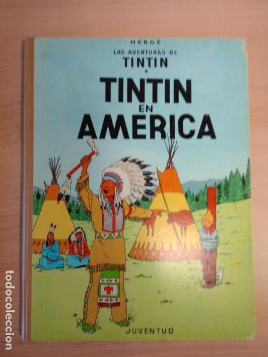Cómics: Lote Tintín, Editorial Juventud. Lomo tela. Oreja, congo, America - Foto 3 - 155955018
