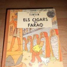 Cómics: TINTIN ELS CIGARS DEL FARAO - 2ª EDICIO EN CATALAN 1965 - LOMO DE TELA. Lote 155983946