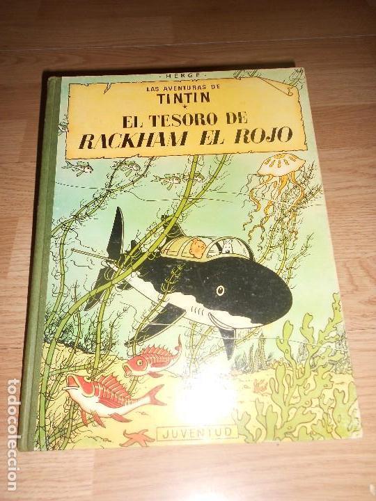 TINTIN EL TESORO DE RACKHAM EL ROJO - 4ª EDICIO 1967 - LOMO DE TELA (Comics und Tebeos - Juventud - Tintín)