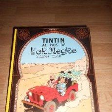 Cómics: TINTIN AL PAIS D L' OR NEGRE - 7ª EDICIO 1987 - EN CATALAN. Lote 155985998