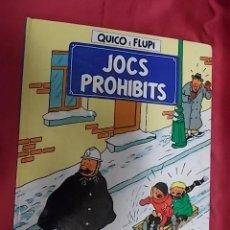 Cómics: QUICO I FLUPI. JOCS PROHIBITS. ESTUDIOS HERGÉ . JOVENTUT. 1991. EN CATALÁ. Lote 156001314