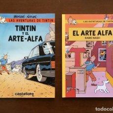Cómics: LOTE DE 2 COMICS LAS AVENTURAS DE TINTIN Y EL ARTE-ALFA HERGE RODIER RAMO NASH CASTAFIORE PASTICHE. Lote 156408534