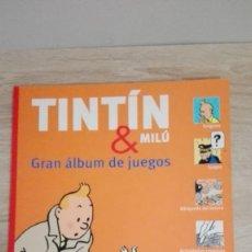 Cómics: TINTÍN Y MILÚ GRAN ÁLBUM DE JUEGOS-AÑO 2011-ED.ZENDRERA-ZARIQUIEY-EN CASTELLANO-NUEVO-IMPECABLE.. Lote 156901966