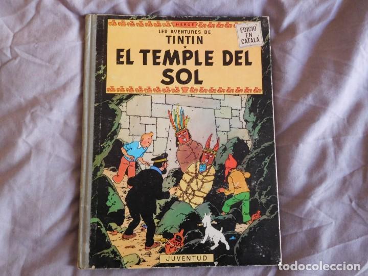 TINTÍN EL TEMPLE DEL SOL 1ª EDICIÓN DEL AÑO 1965 IDIOMA CATALAN (Tebeos y Comics - Juventud - Tintín)